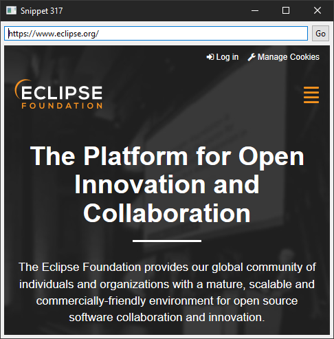SWT Snippets | The Eclipse Foundation